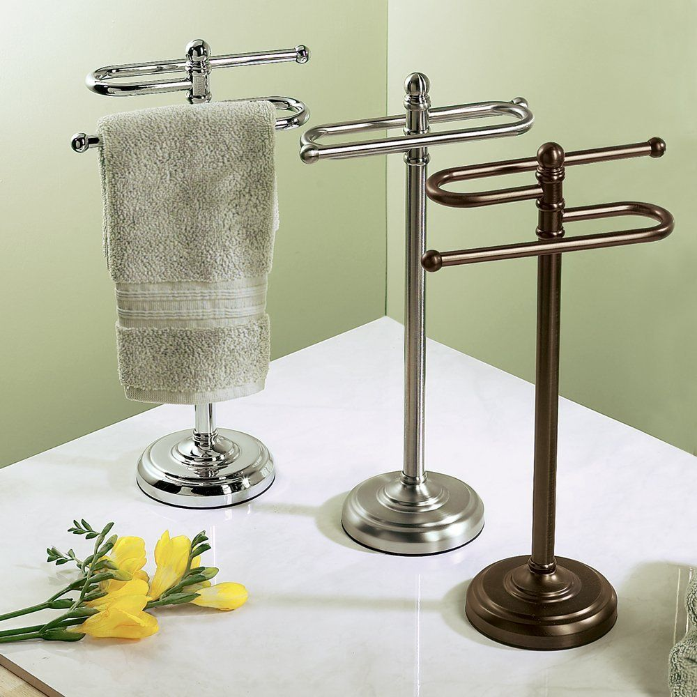 Fresco Of Stylish Free Standing Towel Racks For Outstanding Bathroom Ideas