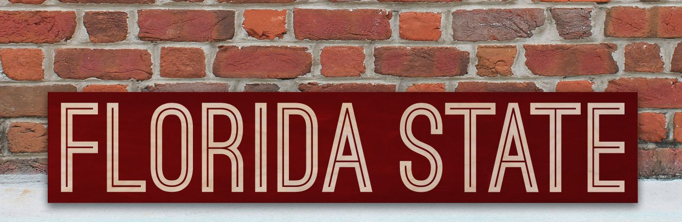 Florida State Wooden Sign. Florida State University. Go Noles! www.WordsonWood.com
