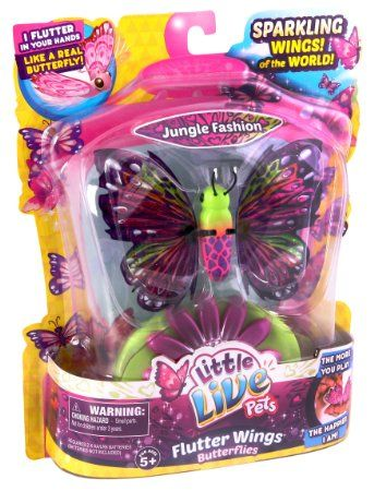 Amazon Com Little Live Pets S2 Butterfly Starter Pack Jungle Fashion Toys Games Little Live Pets Pets Toys For Girls