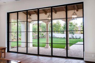 Mediterranen Küche steel pocket sliding doors mediterranean patio orange county