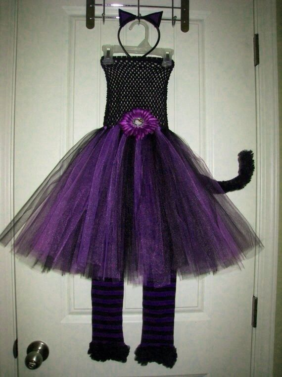 Celeste Halloween Hello Kitty Cat Purple  Black Tutu Dress by - hello kitty halloween decorations