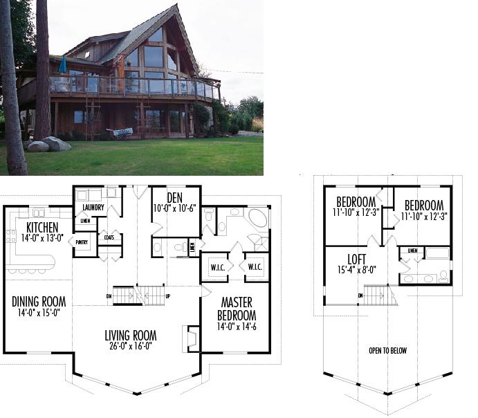 Este plano de casa americana destaca por la hermosura de - Casas americanas planos ...