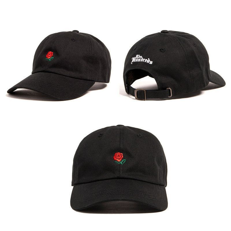 9fb64f7e40f New RARE Brands The Hundreds Rose Strap Back Cap man woman Adjustable golf  snapback baseball hat palace drake 6god Strapback cap