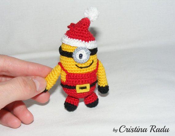 Minion Santa one eye cute Despicable me Crochet by raducristina ...