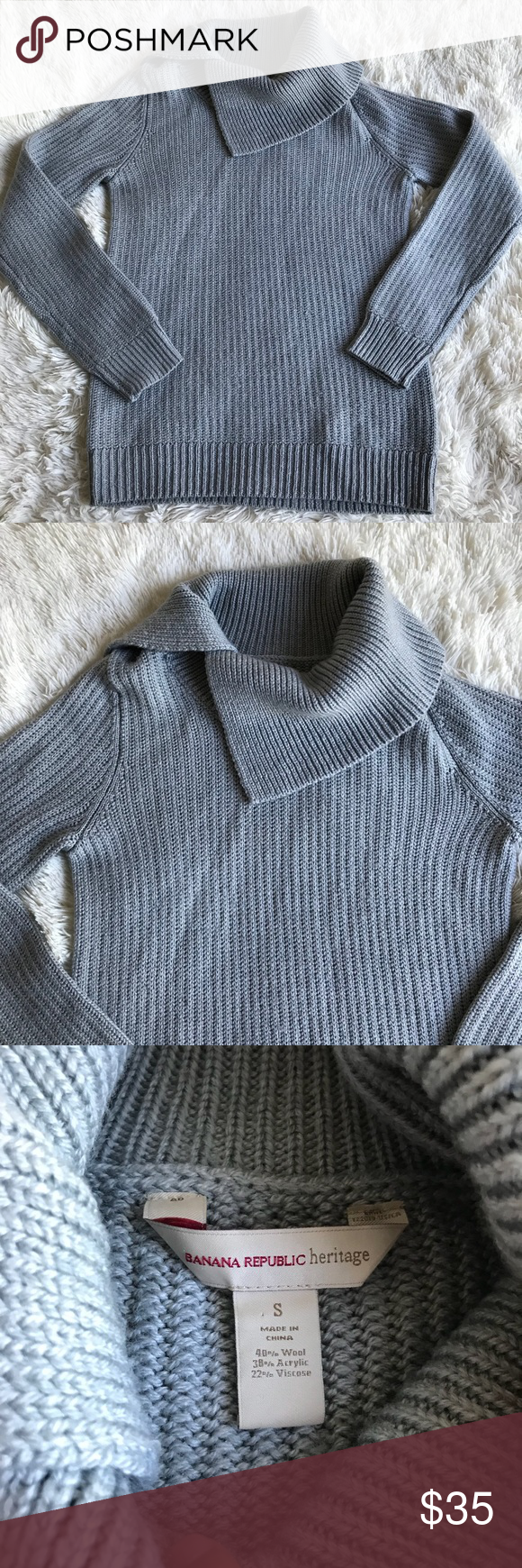 Banana Republic Heritage Wool Cowl Neck Sweater | Banana republic ...
