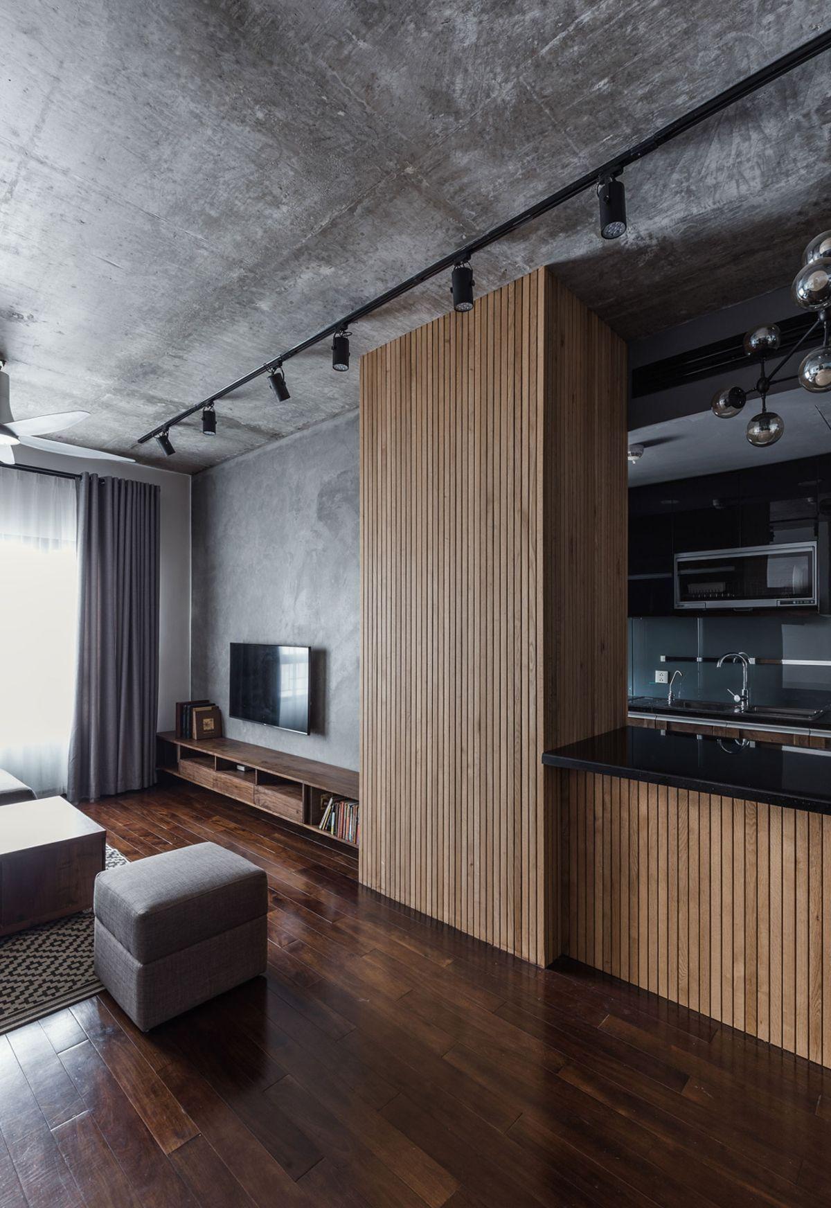 Kleines Apartment für eine nostalgische Familie neu gestaltet #woodfeaturewalls