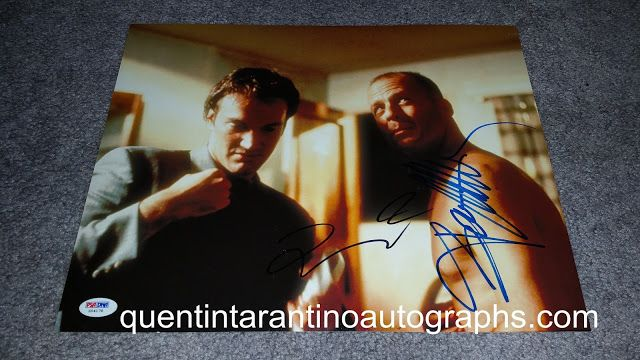My Quentin Tarantino Autograph Collection: Quentin Tarantino, Bruce Willis and Brad Pitt! Pul...