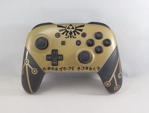 Custom Breath Of The Wild Switch Pro Controller X Post R Nintendo Switch Visit Blazezelda Tumblr Com Nintendo Switch Nintendo Gaming Products