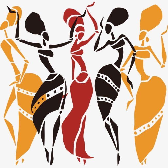 Une Femme Africaine Les Vents Silhouette Png Et Vecteur Dancing