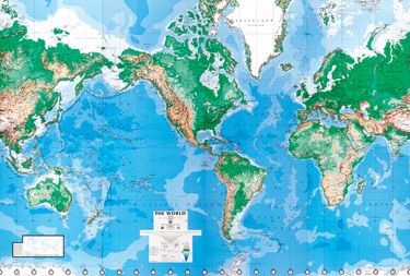 Featuring usgs and us department of defense data this things featuring usgs and us department of defense data this world map wall mural is highly detailed and extensively labeled each mural consists of 8 panels gumiabroncs Choice Image