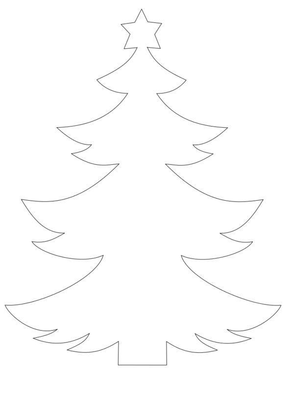 Motiv Zeichnung Applikationsvorlage Tannenbaum Weihnachtsbaum Weihnachten Basteln Vorlagen Fensterbilder Weihnachten Basteln Fensterdeko Weihnachten Basteln