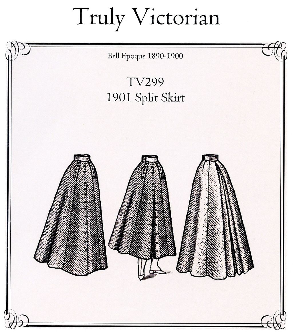 Truly Victorian Ladies\' 1901 Split Skirt / Riding Skirt in 2 Lengths ...