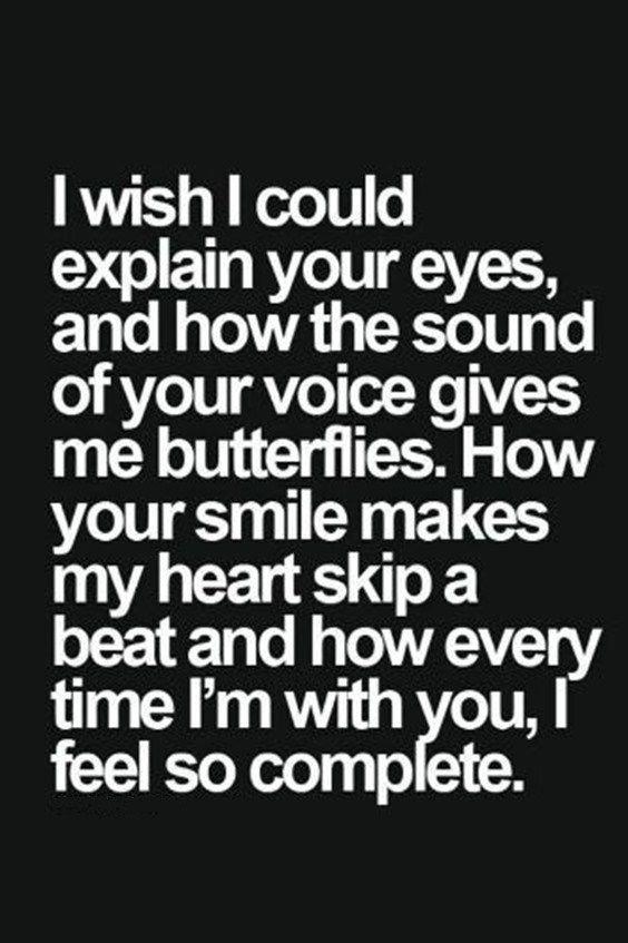 ♥️ I'm crazy about you. But you keep me at a distance.