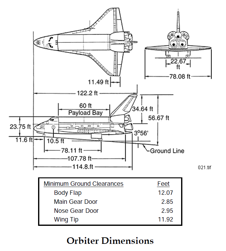 Space Shuttle Dimensions   Rockets   Pinterest   Space ...
