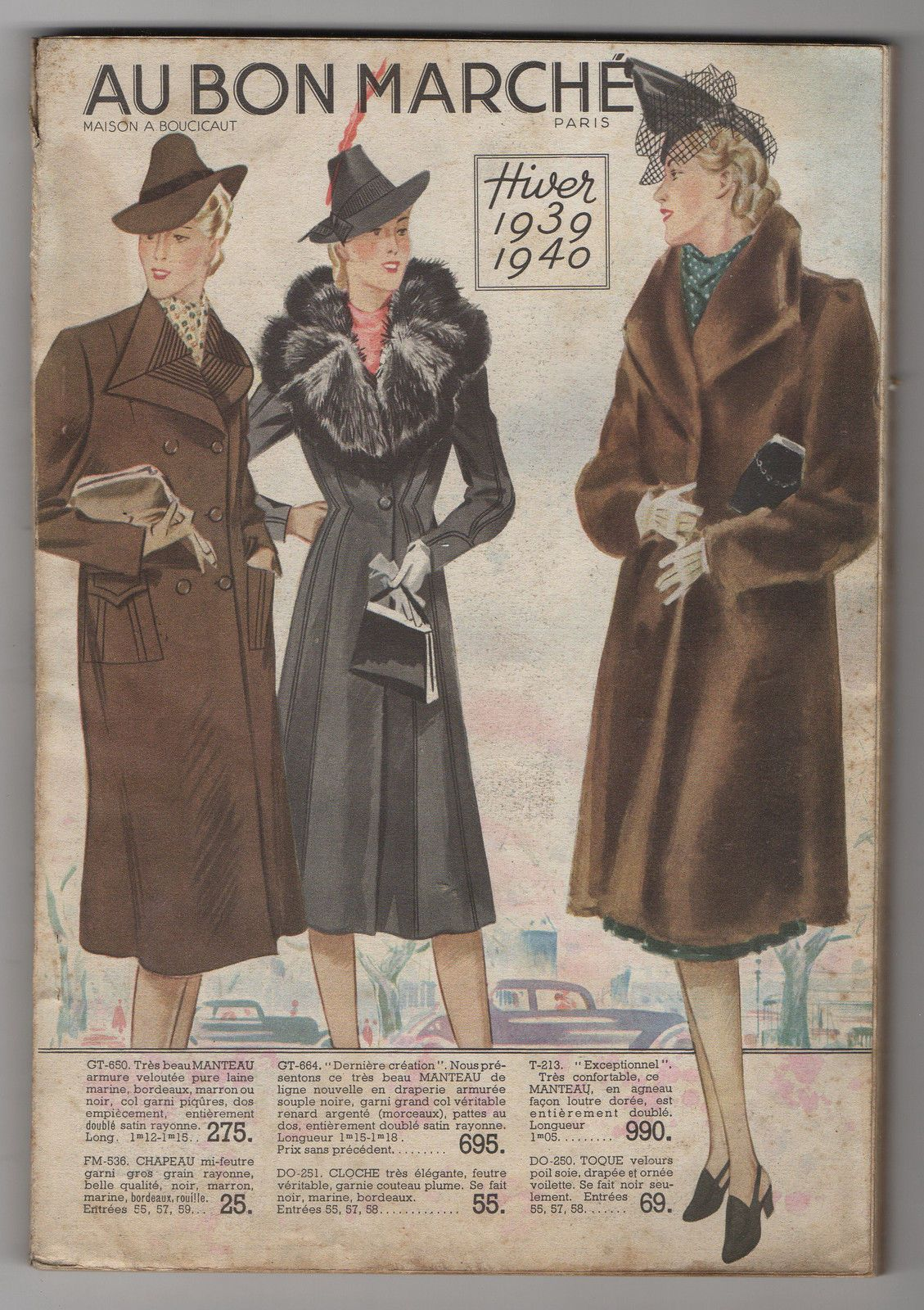 catalogue au bon market paris winter 1939 1940 fashion house boucicaut ebay les catalogues. Black Bedroom Furniture Sets. Home Design Ideas