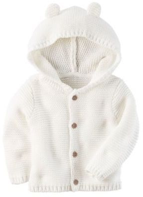 a290c5503 Carter s Newborn Button-Front Sweater Jacket with Hood