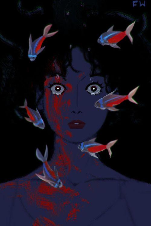 Bildresultat For Perfect Blue Psychedelic Art Aesthetic Art Cute Art