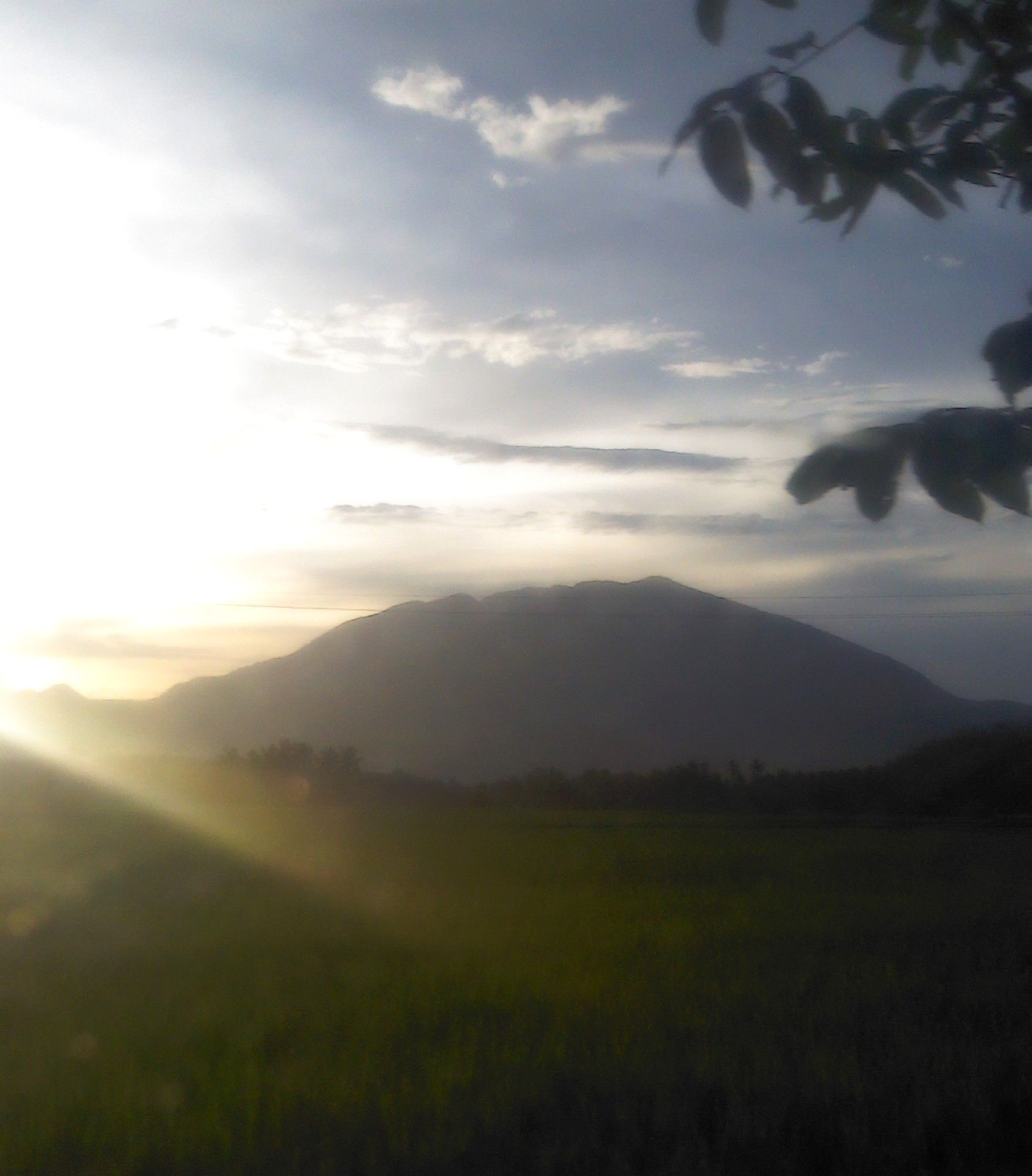 sunrise by the mountain
