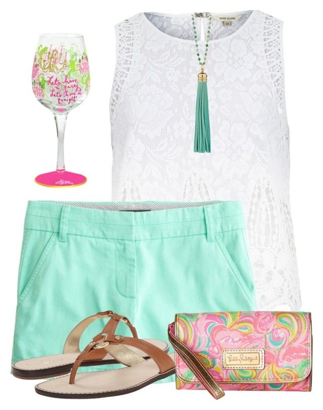 """""""Untitled #494"""" by c-michelle ❤ liked on Polyvore featuring River Island, J.Crew, Elizabeth Raine and Lilly Pulitzer"""