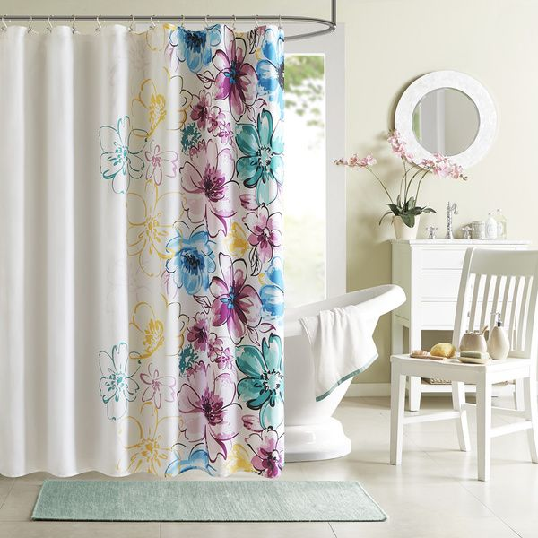 Intelligent Design Cassidy Floral Shower Curtain - Overstock ...