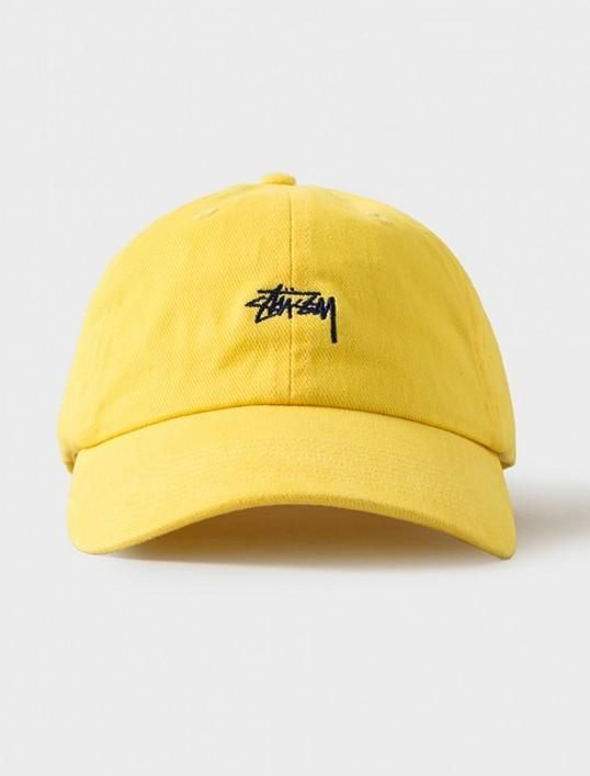 Mens   Womens Stussy Stock Iconic Popular Fashion Golf Camp Strapback  Adjustable Cap - Yellow   Navy 56ce3649aa7