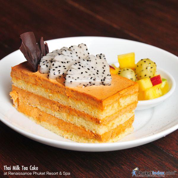 Thai Milk Tea Cake at Renaissance Phuket Resort & Spa http://phuketindex.com/