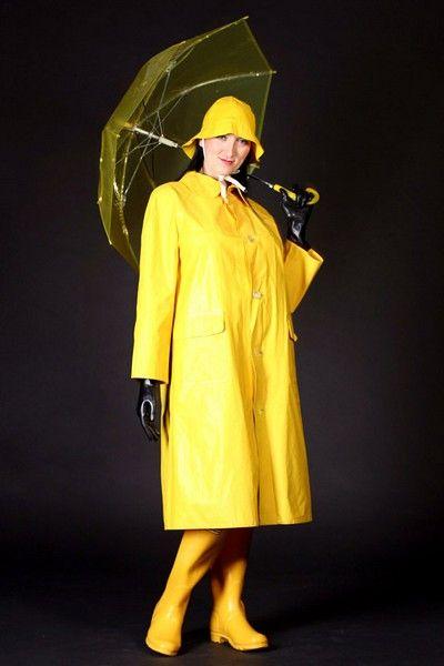 Yellow PVC Raincoat   Hat  cf020a258cb
