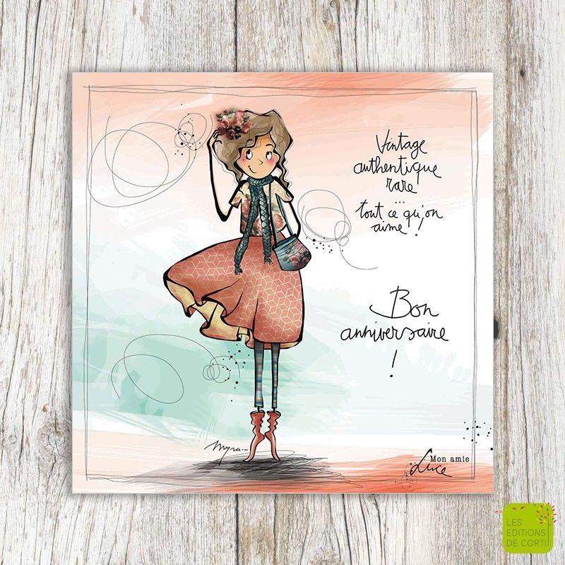 Vintage Authentique Rare Tout Ce Qu On Aime Bon Anniversaire Carte D Anniversaire Illus Anniversaire Vintage Carte Postale Anniversaire Carte Postale