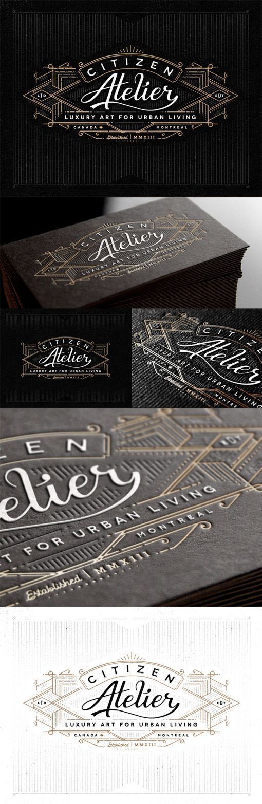 Vintage Typography And Styling On A Business Card For An Art Gallery ...