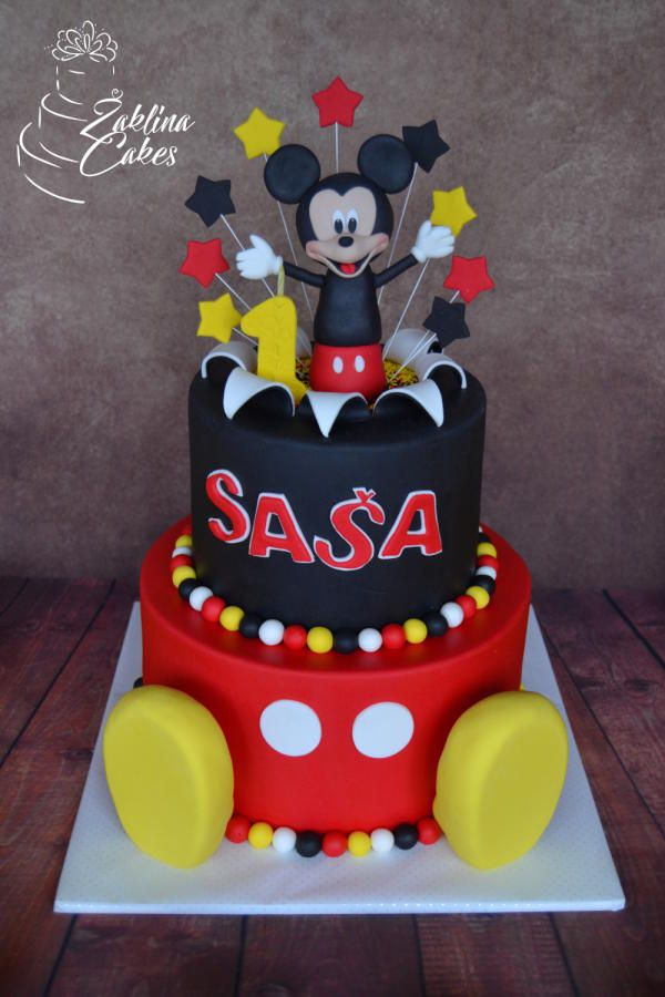 mickey mouse cake by zaklina cakes cake decorating daily inspiration ideas pinterest. Black Bedroom Furniture Sets. Home Design Ideas