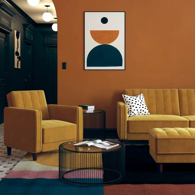 Willa Arlo Interiors Nia Velvet 81 5 Square Arm Sleeper Reviews Wayfair In 2020 Interior Retro Interior Interior Design