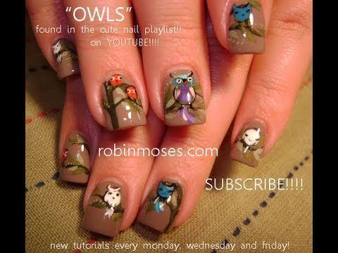 Nail Art Tutorial Diy Nail Designs Easy Owl Nails Design