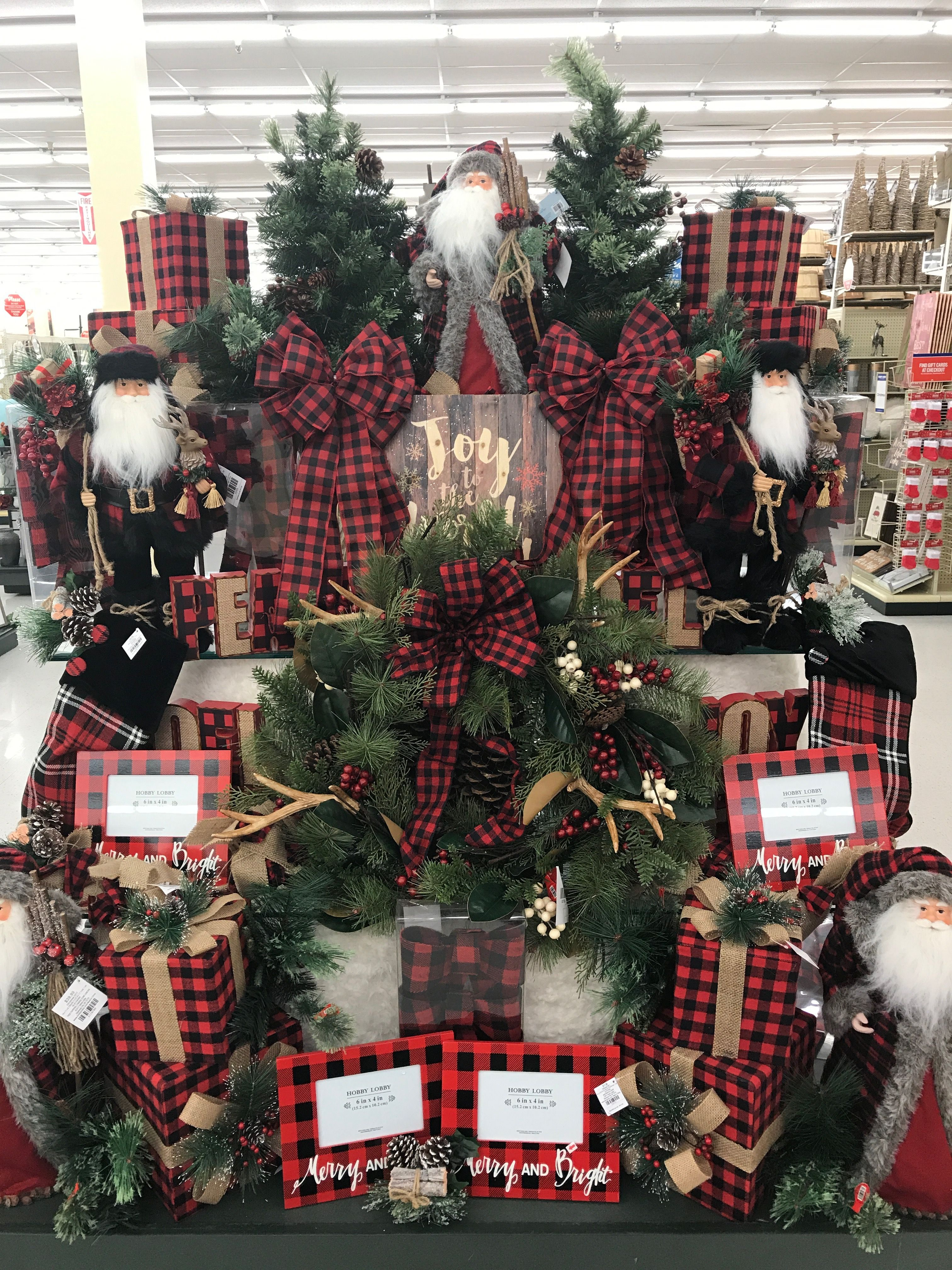 Pin By Natalie Duckworth Wright On Hobby Lobby Christmas Decorations Plaid Christmas Decor Christmas Display