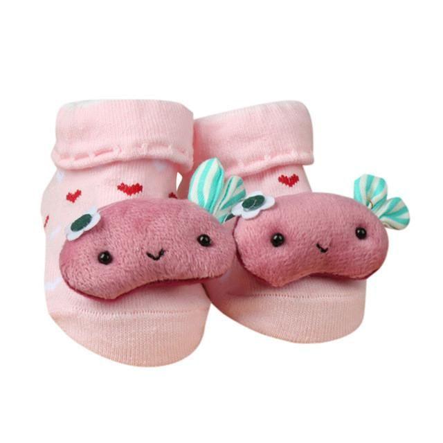 bc63d5b0169 Newborn Baby Cartoon Socks For Boys and Girls Toddler Infantil Anti-Slip  Cotton Animal Sock Bebe Meias New Born Socks