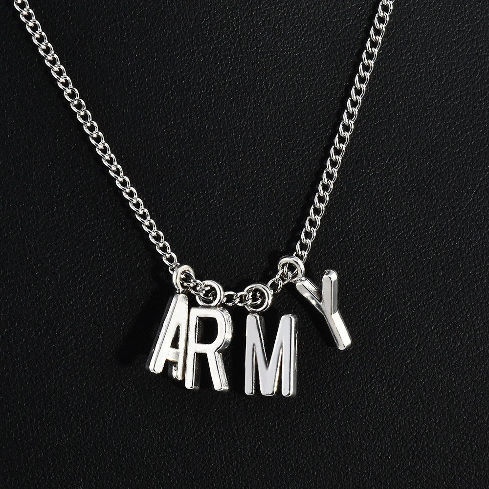 BTS Jimin Chokers Adjustable Necklace Locket Jewelry  Pendants Letter Popular