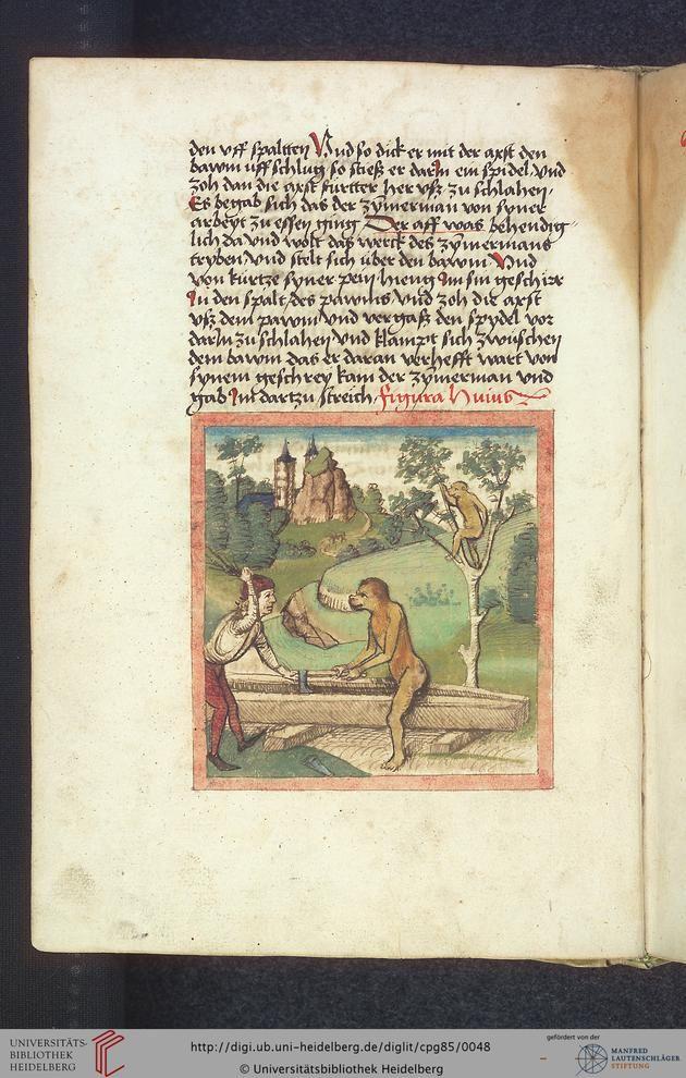 Cod. Pal. germ. 85: Antonius von Pforr: Buch der Beispiele (Schwaben, um 1480/1490), Fol 20v