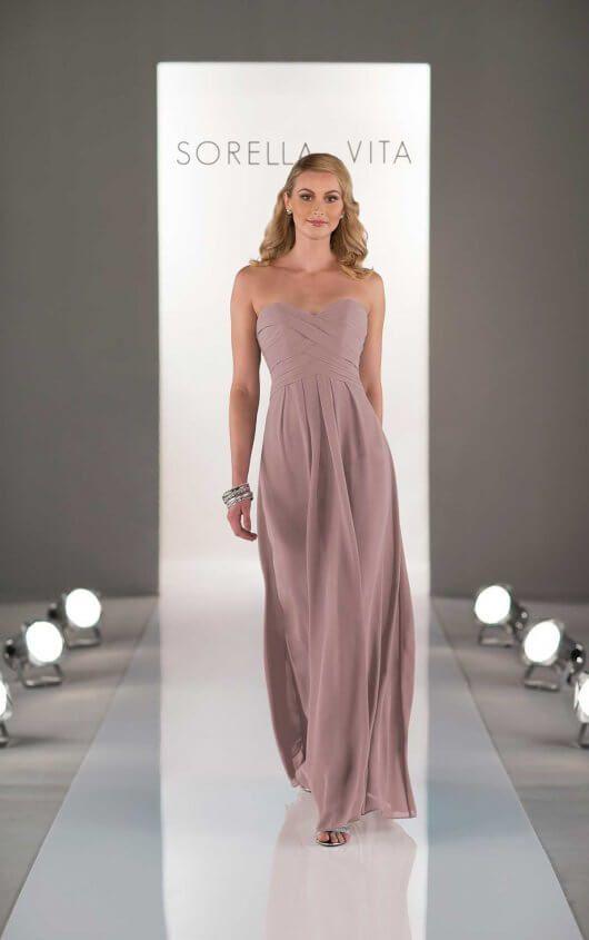 fcfee9cb060 Unique Floor-length Bridesmaid Dress by Sorella Vita in 2019 ...
