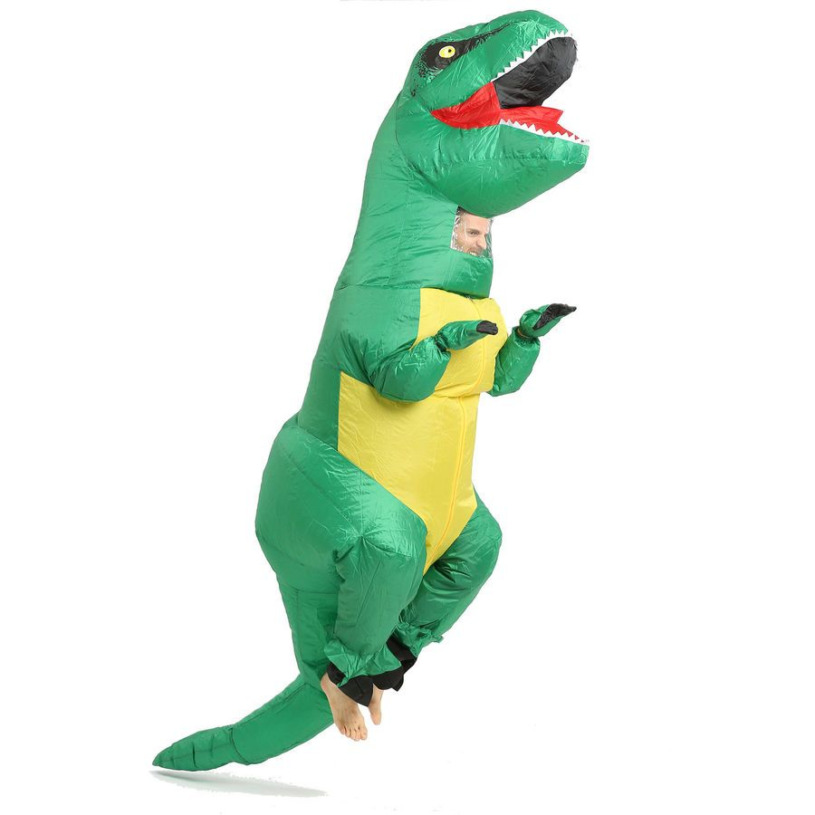 Kids Inflatable Dinosaur Mascot Costume Suits Dress Cosplay Blow Up Party Game