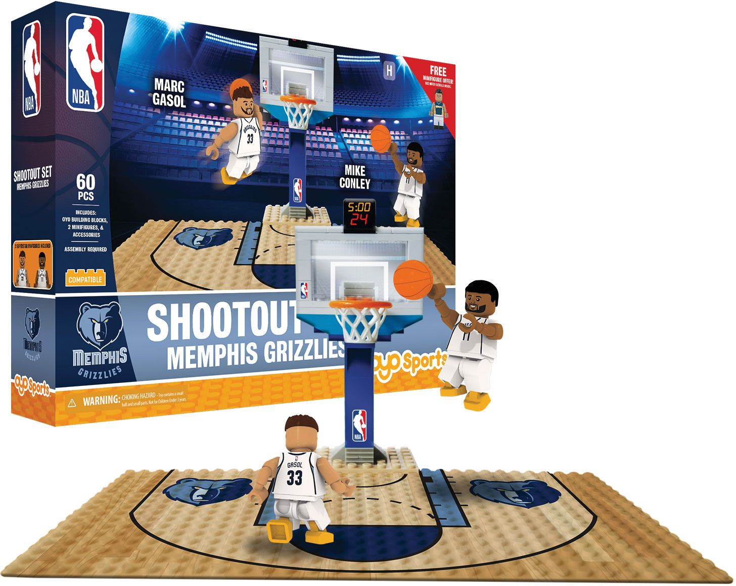 OYO Memphis Grizzlies Shootout Play Set Memphis