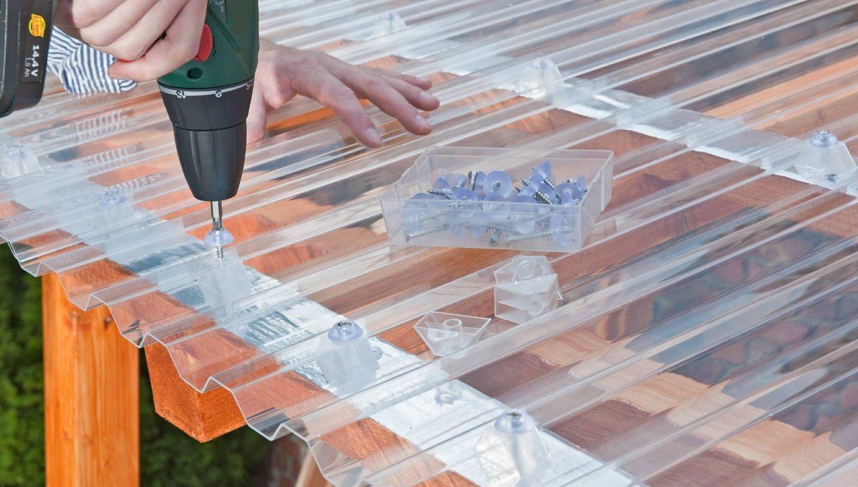 Dach Decken Mit Wellplatten In 7 Schritten Obi In 2020 Gartendach Uberdachungen Pergola Dach