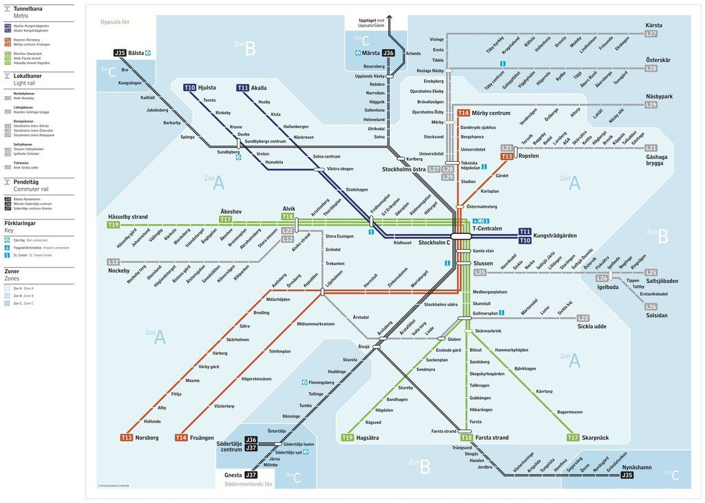 Metro Map For Stockholm With Images Ranta