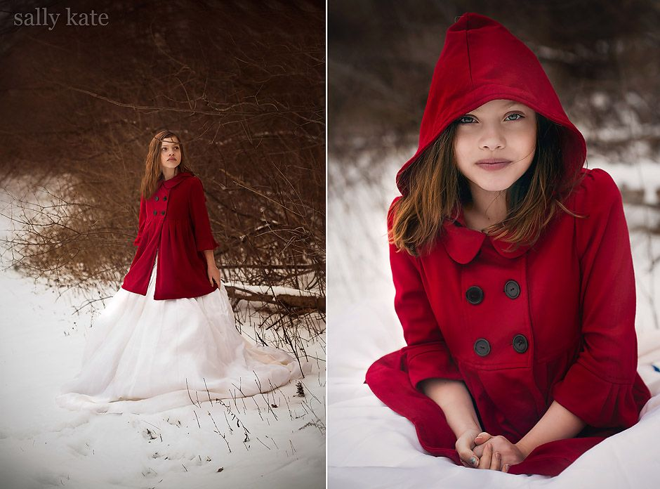 canton michigan girl in red coat in snow | Style a session ...