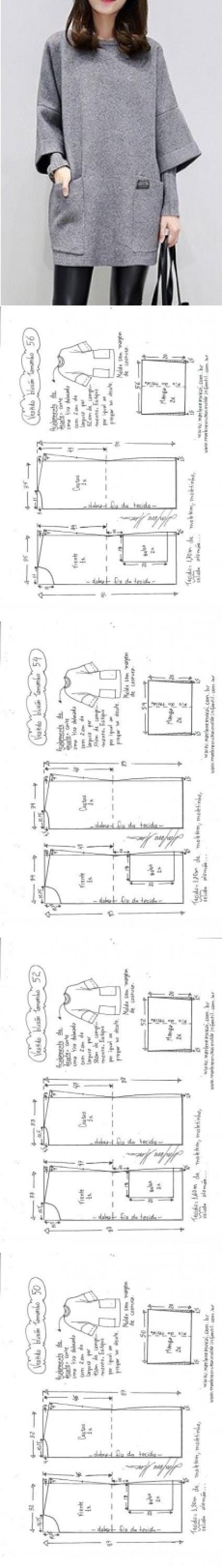 Свитер с капюшоном - DIY - плесень, вырезка и шьют - Marlene Mukai ...