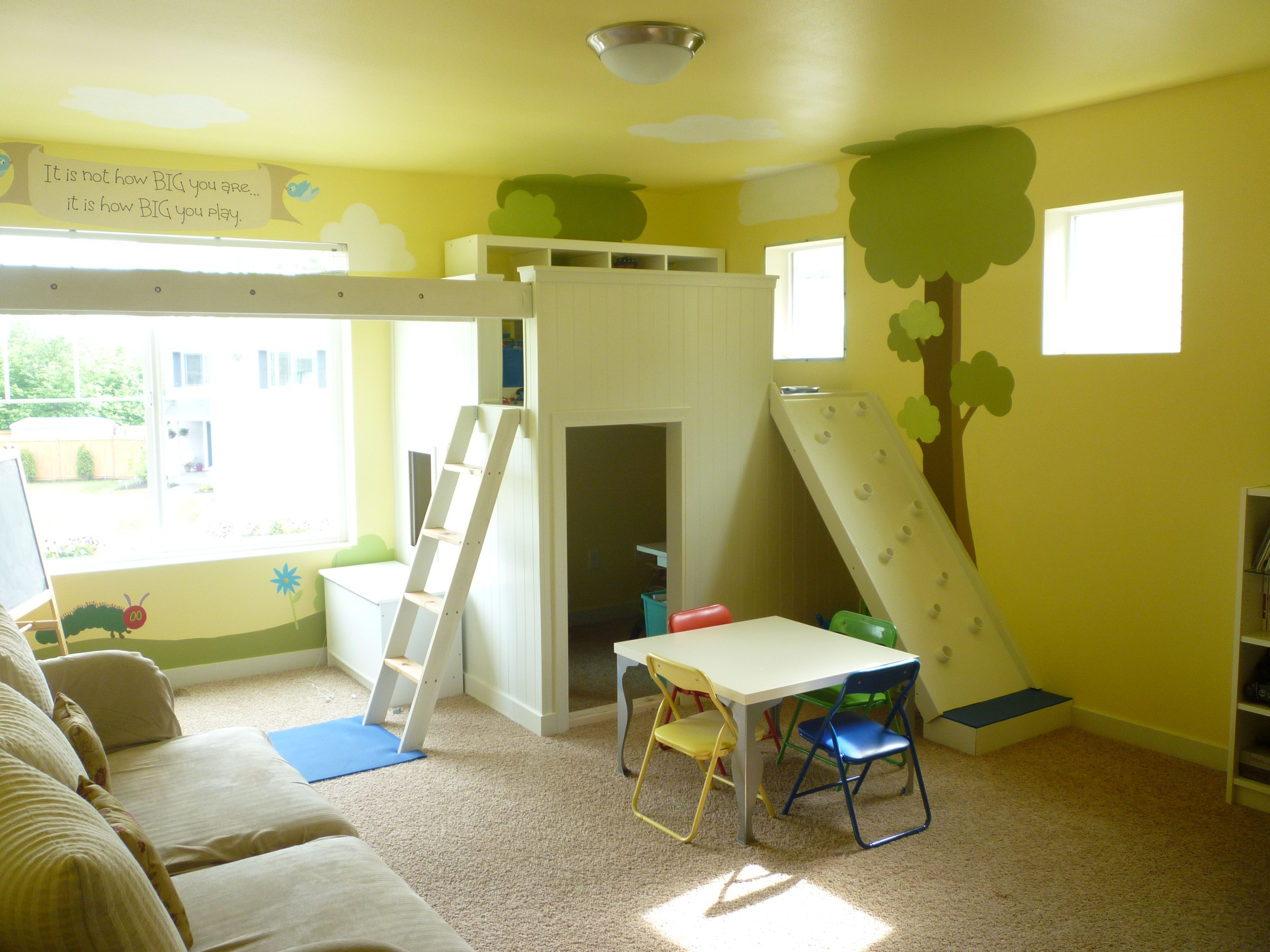 Transformed our loft to be an indoor playground. We don\'t always ...