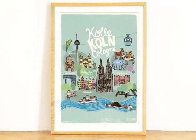 Poster Kinderzimmer *Köln* A2 | Diy design, Kids rooms and Babies