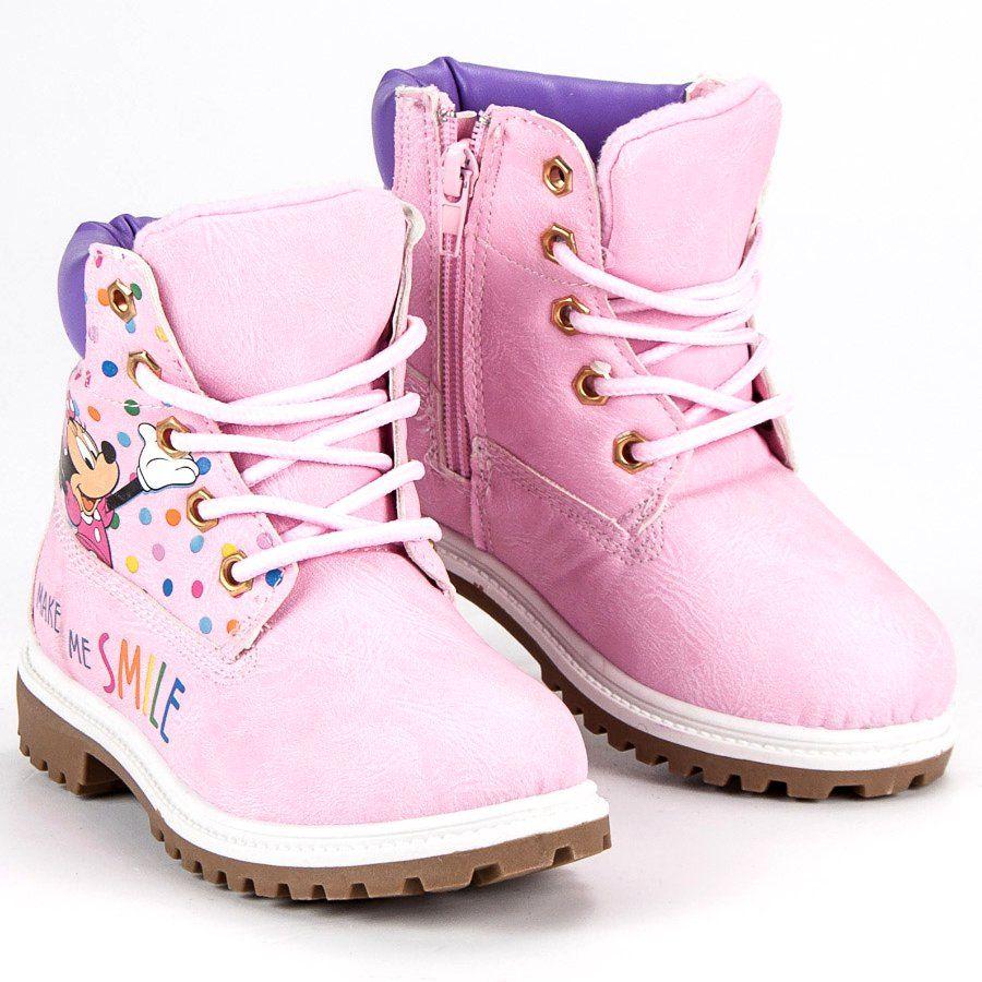 Kozaki Dla Dzieci Butymodne Rozowe Traperki Myszka Miki Sporty Shoes Boots Timberland Boots