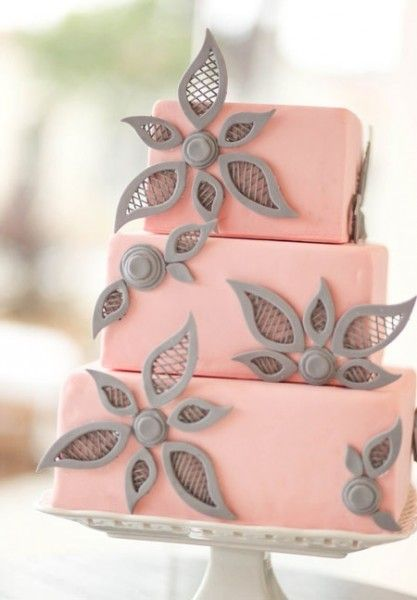 032f8d51f08 mariage rose gris idée candy wedding cake original Carnet d inspiration  mariage Mademoiselle Cereza