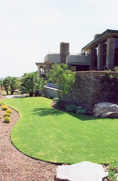 Simple landscaping ideas around house
