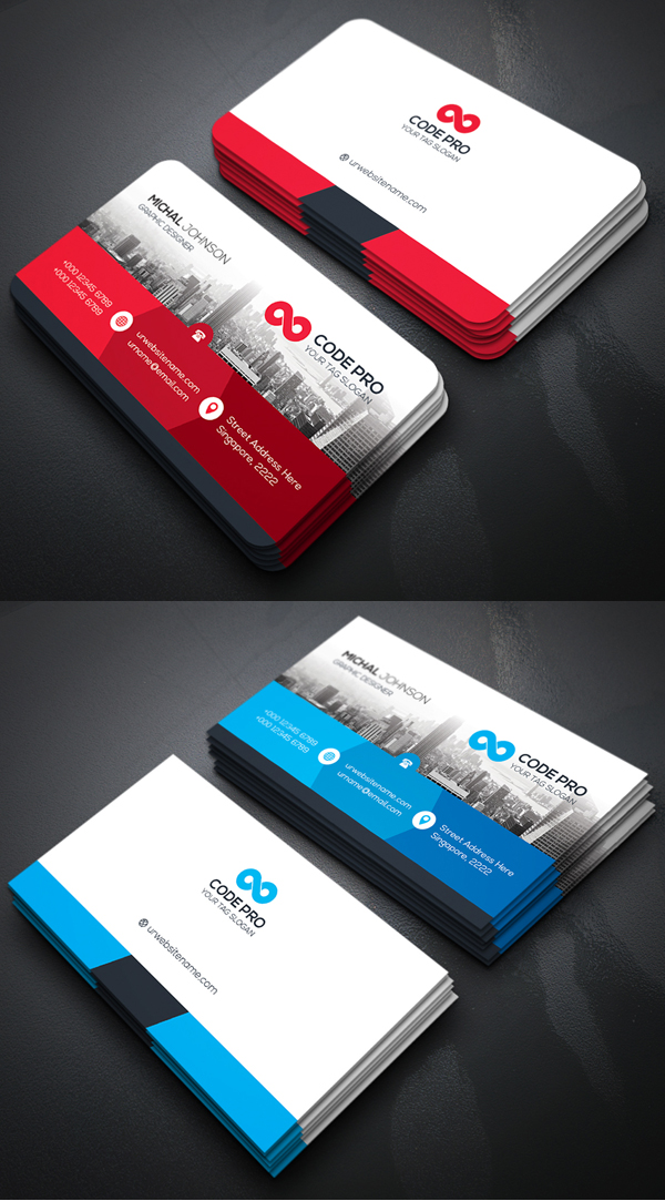 Check out the new created business cards with rockdesign