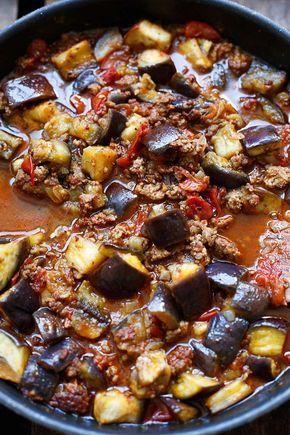 Türkische Auberginen-Hackfleisch-Pfanne #hamburgermeatrecipes